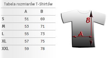 rozmiarówka tshirt