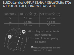 rozmiarówka damska bluza