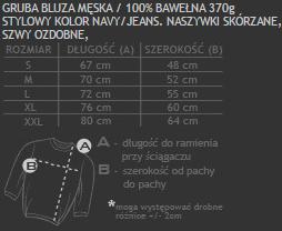 rozmiarówka UP bluza